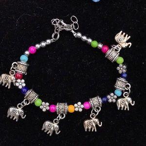 Vintage elephant charm bracelet